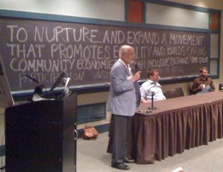 TimeBanks USA Conference, Edgar Cahn, Aug 6, 2012 - ProvGardener